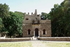 Castle in Ethiopia. The baths of Fasilidas in Gondar, in Ethiopia Royalty Free Stock Photography
