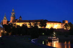 Castle in the evening, Poland Royalty Free Stock Photo