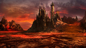 Castle of evil wizard vector illustration