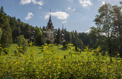 Castle exterior. Pelesh castle exterior in sunny day, early morgning Royalty Free Stock Image