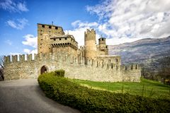 Fenis Castle in Aosta Valley, Italy Royalty Free Stock Image