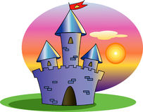 Castle of the fairy tale Stock Image