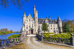 Castle from fairytale. Belgium, Marnix Stock Photo