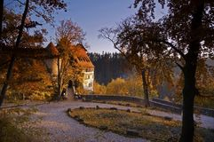 Castle in fall royalty free stock image