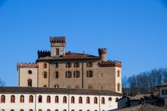 Castle `Falletti` of Barolo, Cuneo - Piedmont Royalty Free Stock Photography