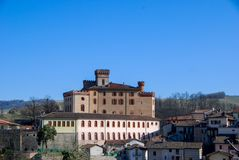 Castle `Falletti` of Barolo, Cuneo - Piedmont Stock Images
