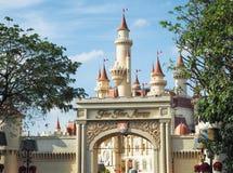 A castle `far far land` Universal Singapore. stock image