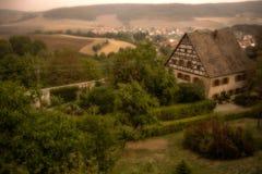 Castle. Farmhouse in a field, Altstadt-Lehel, Munich, Bavaria, Germany Stock Images