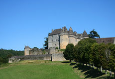castle fenelon france medieval perigord 免版税库存图片
