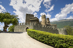 Castle of Fenis Royalty Free Stock Photo