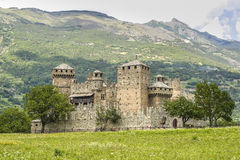 Castle of Fenis Stock Photos