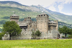 Castle of Fenis royalty free stock photos