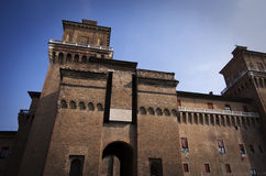 Castle of ferrara Stock Images