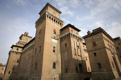 Castle of ferrara Royalty Free Stock Images
