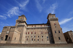 Castle in Ferrara, Italy at day time Stock Photos
