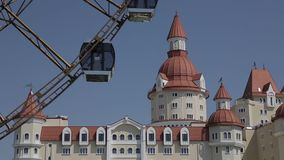 The castle and the Ferris wheel stock footage