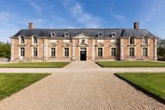 Castle Chateau-de-la-Ferte Saint-Aubin Main Entry stock photography