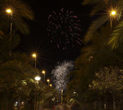 Castle Fireworks in Elche Stock Photos