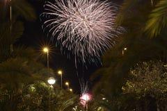 Castle Fireworks in Elche Stock Photo
