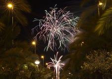 Castle Fireworks in Elche Stock Images