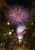 Castle Fireworks in Elche Royalty Free Stock Photos