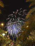 Castle Fireworks in Elche Stock Image