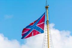 Castle flag maritime fortresses flag - raised on flagpoles ma Royalty Free Stock Photo