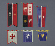 Castle flags Stock Images