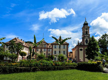 Castle on the flower island of Mainau, Germany Stock Images