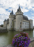 Castle with flowers near Loire Royalty Free Stock Images