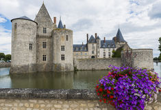 Castle with flowers Royalty Free Stock Images