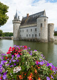 Castle with flowers Stock Photography