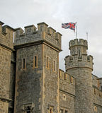 Castle flying the flag Royalty Free Stock Image