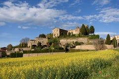 Castle of  Foixa, Baix Emporda, Girona province,. Catalonia, Spain Stock Photos