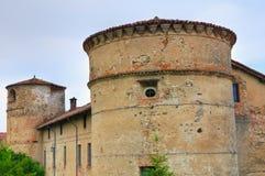 Castle of Folignano. Ponte dell'Olio. Emilia-Romagna. Italy. Perspective of the Castle of Folignano. Ponte dell'Olio. Emilia-Romagna. Italy Royalty Free Stock Photo