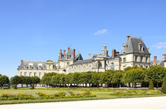 Castle Of Fontainebleau. External of the castle of fontainebleau Royalty Free Stock Image