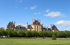Castle Fontainebleau, France Royalty Free Stock Images
