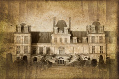 Castle of Fontainebleau, France, vintage process Stock Photo
