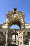 Castle Of Fontainebleau. Interior of the castle of fontainebleau, entrance to the square Royalty Free Stock Photos
