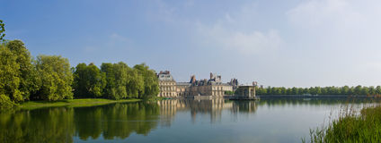 Castle of Fontainebleau - Panorama stock photography
