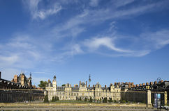 The Castle Of Fontainebleau. The Royal Château de Fontainebleau is a large palace where the kings of France took their ease. It is also the site where the Stock Photo