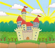 Castle in the Forest. Royalty Free Stock Photos