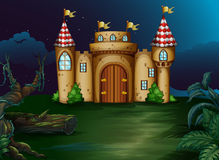 A castle at the forest Stock Photography