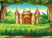 A castle at the forest Royalty Free Stock Image