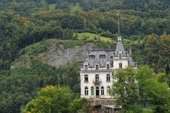 Castle in forest Stock Photo