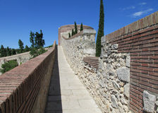 Castle fortificated wall Stock Image