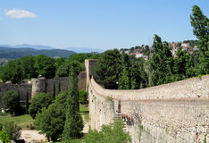 Castle fortificated wall Royalty Free Stock Photo