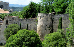 Castle fortificated wall Stock Photos