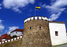 Castle fortification in town Písek. South Bohemia, Europe Stock Photo