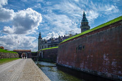 Castle and fortoress of Kronborg, home of Shakespeare's Hamlet. Royalty Free Stock Images